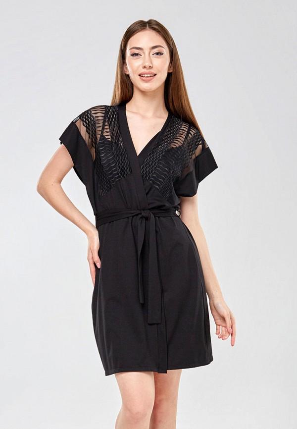 женский халат ora, черный