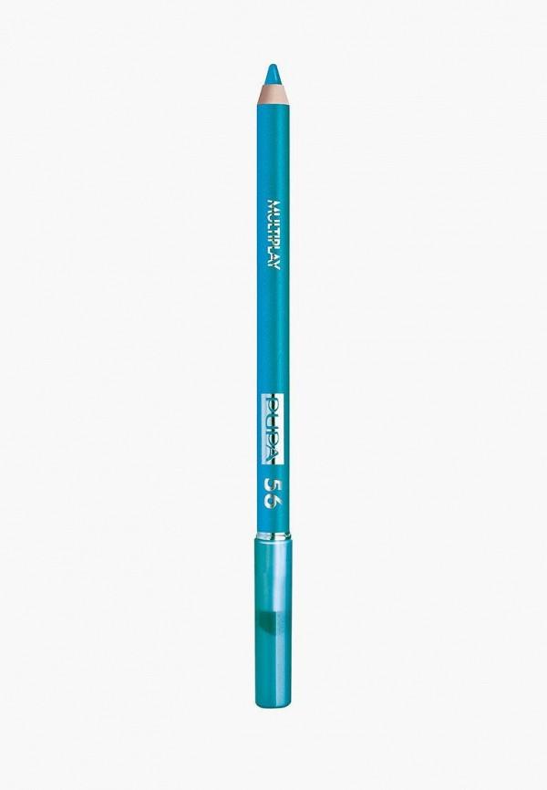 женский карандаш для глаз pupa, синий