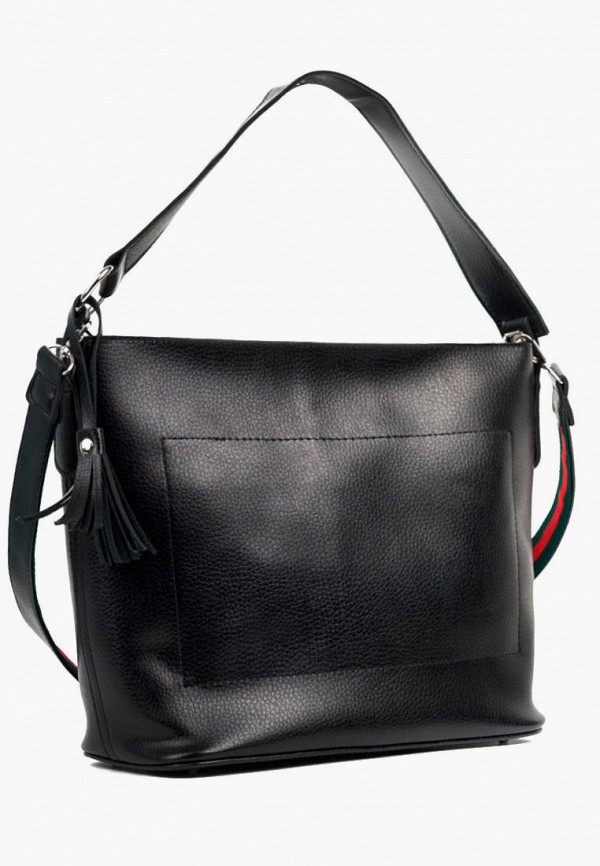 женская сумка с ручками vita, черная