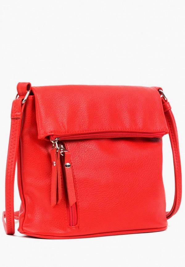женская сумка через плечо vita, красная