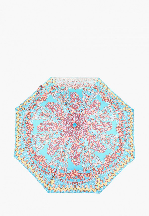 женский складные зонт goroshek, голубой