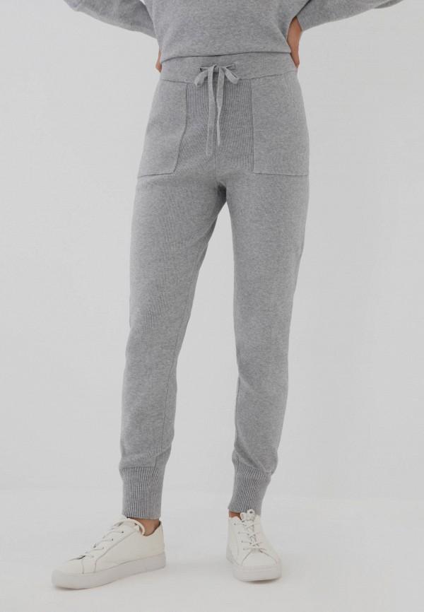 женские брюки джоггеры zarina, серые
