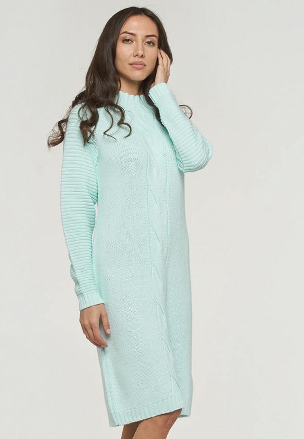 женское платье-свитеры vay, бирюзовое