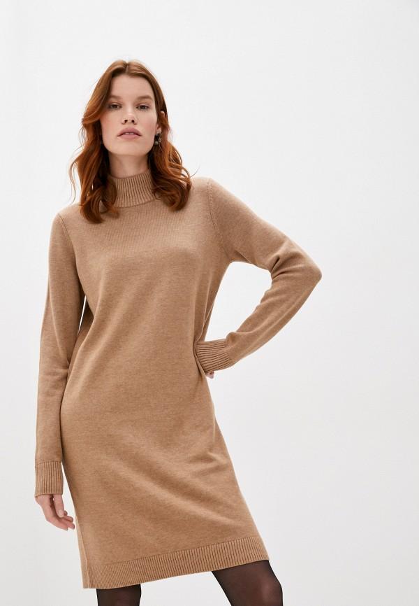 женское платье-свитеры boss, коричневое