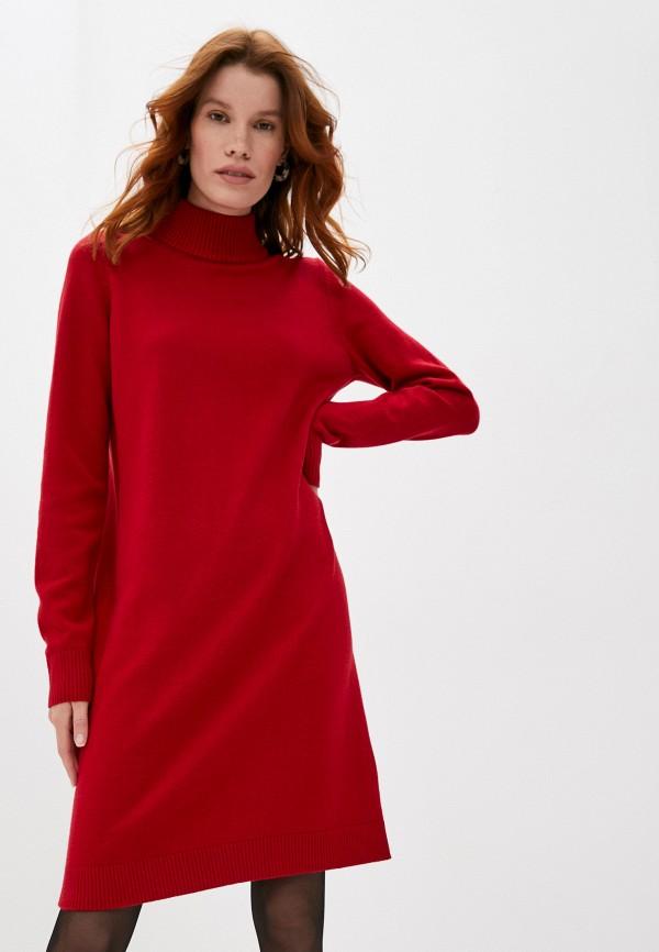 женское платье-свитеры boss, красное