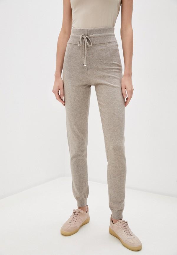 женские брюки джоггеры hugo, бежевые