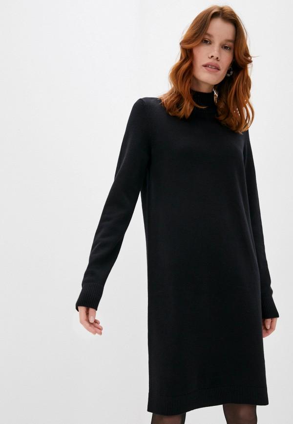 женское платье-свитеры boss, черное