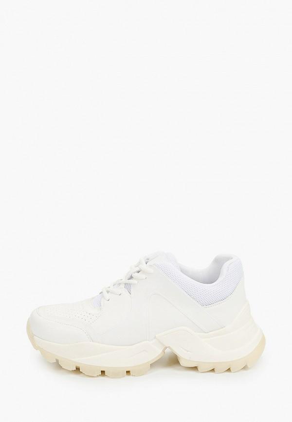 женские низкие кроссовки befree, белые