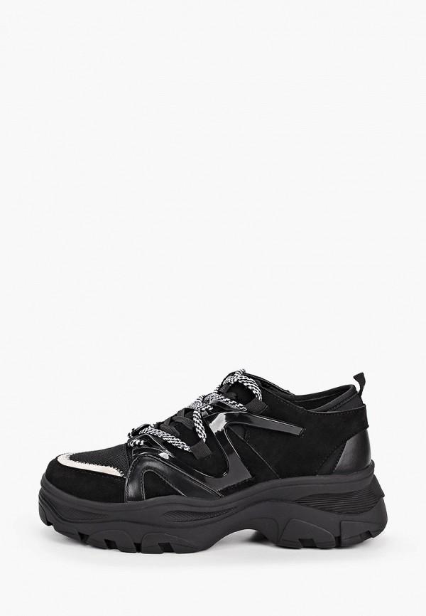женские низкие кроссовки befree, черные