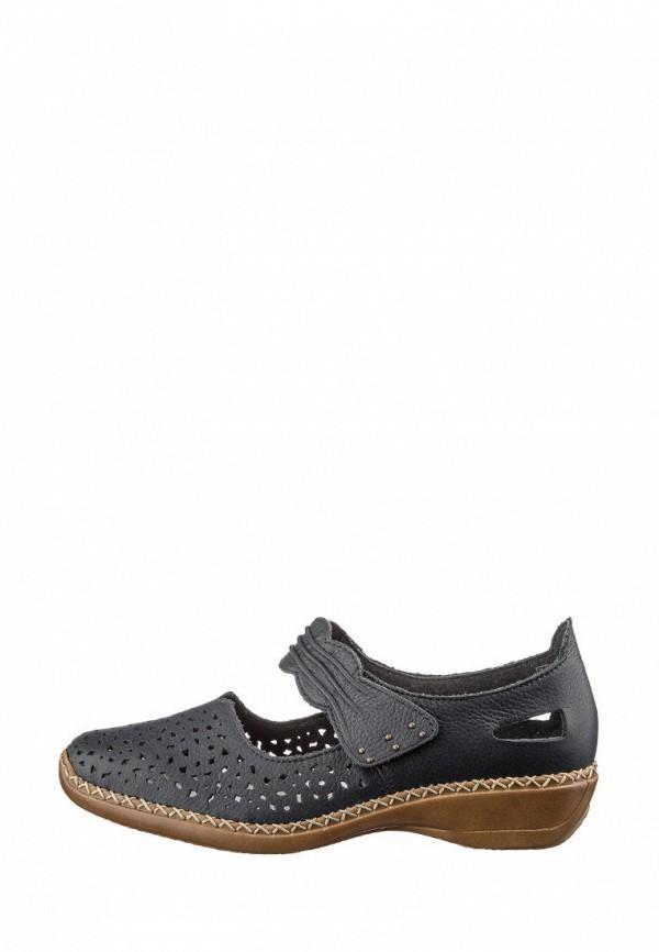 женские туфли rieker, черные