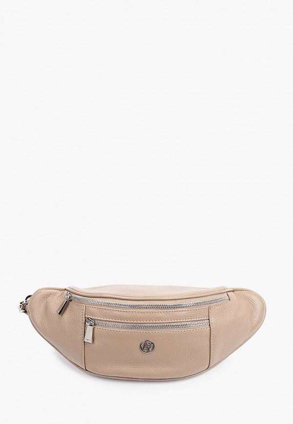 женская поясные сумка afina, бежевая