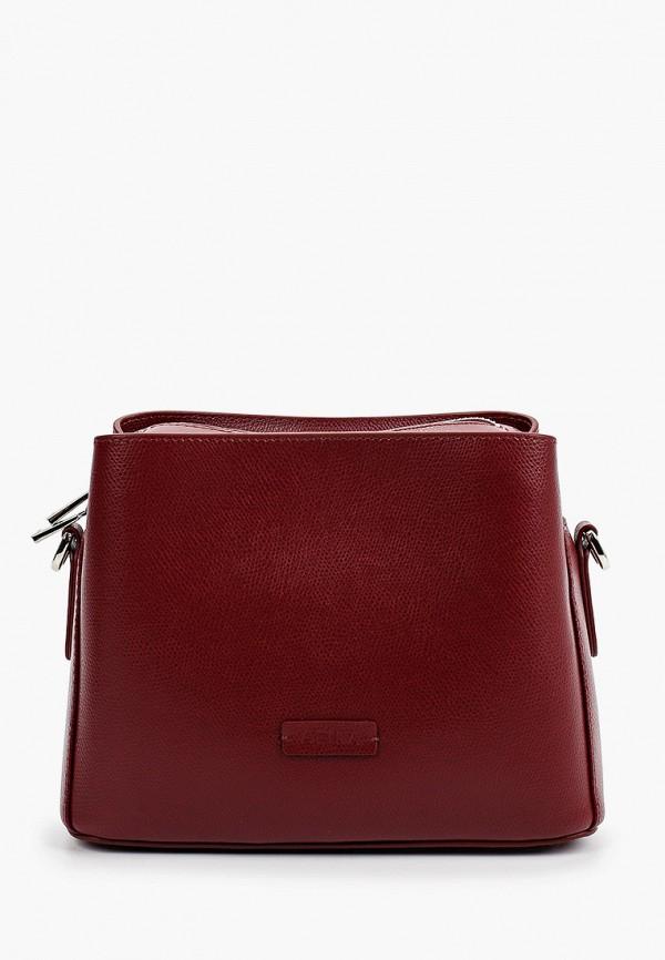 женская сумка через плечо afina, бордовая