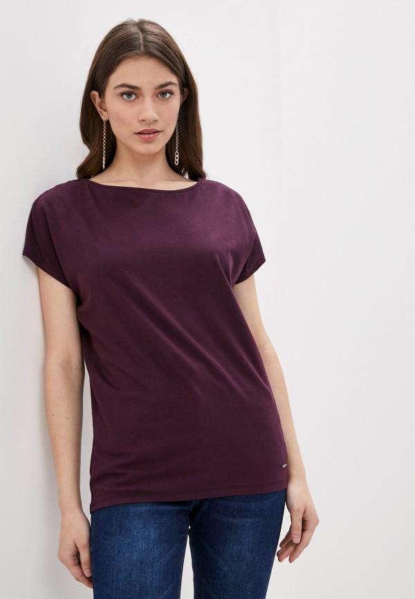женская футболка vilatte, фиолетовая