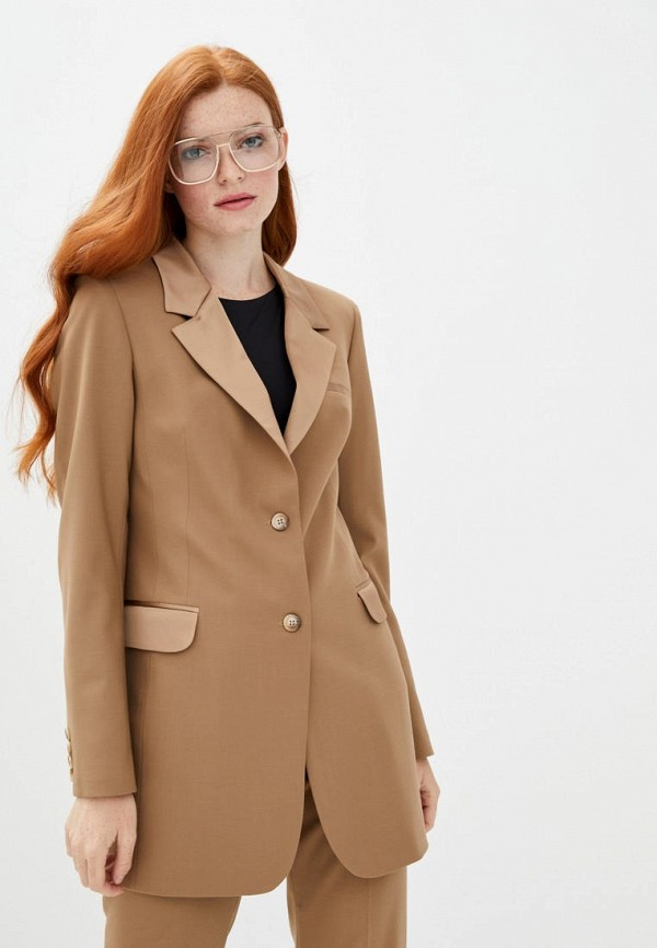 женский пиджак katerina timakina, бежевый