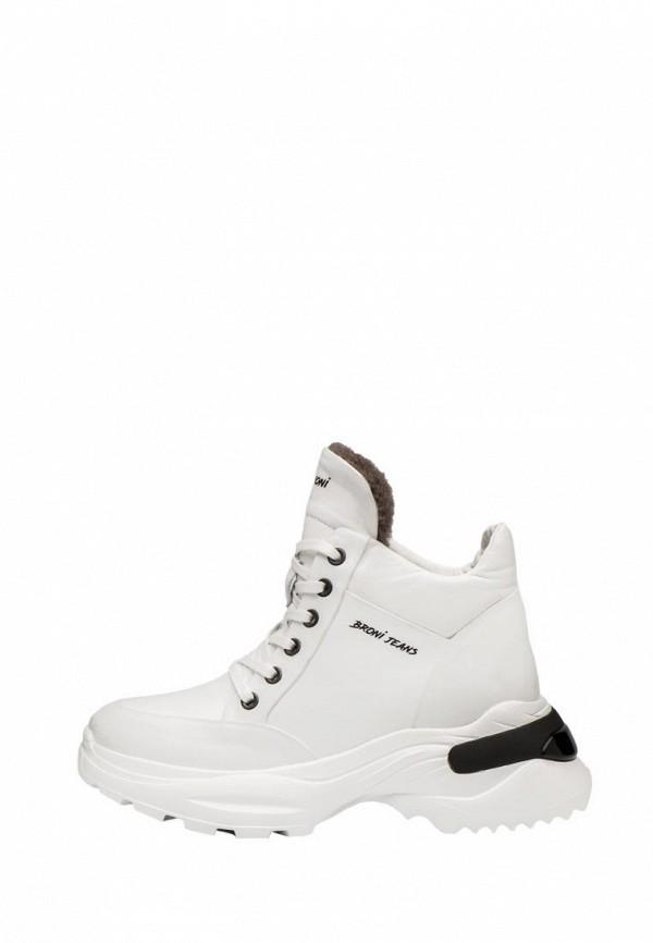 женские кроссовки broni, белые