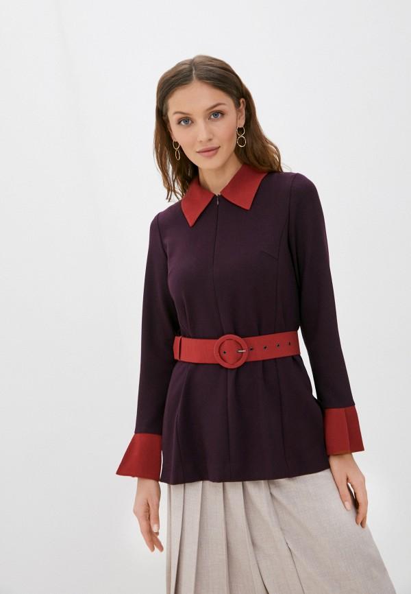 женская блузка с длинным рукавом alena goretskaya, фиолетовая