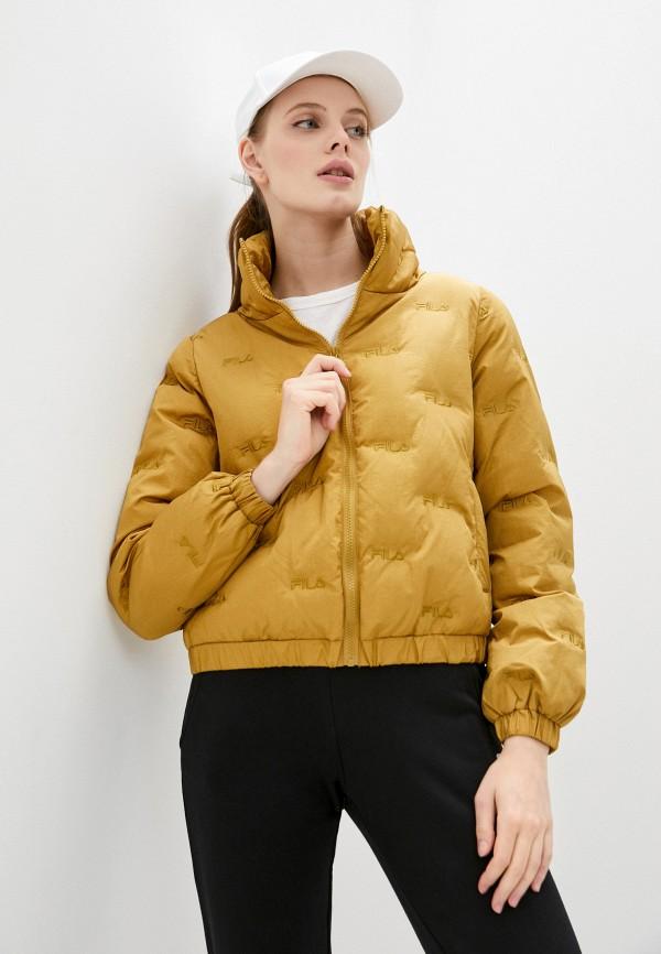 женская спортивные куртка fila, золотая