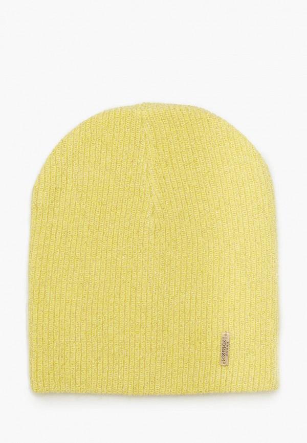женская шапка zhakko, желтая