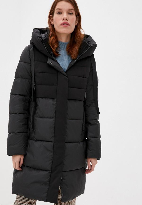 женская утепленные куртка снежная королева, черная