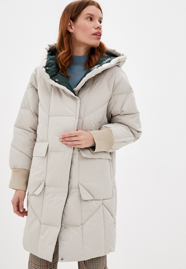женская утепленные куртка снежная королева, бежевая