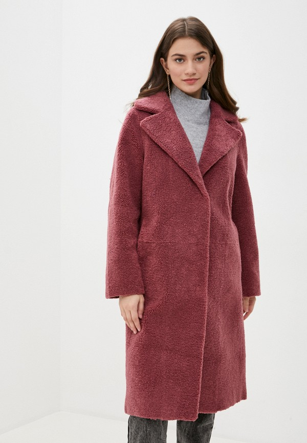 женское пальто sela, розовое