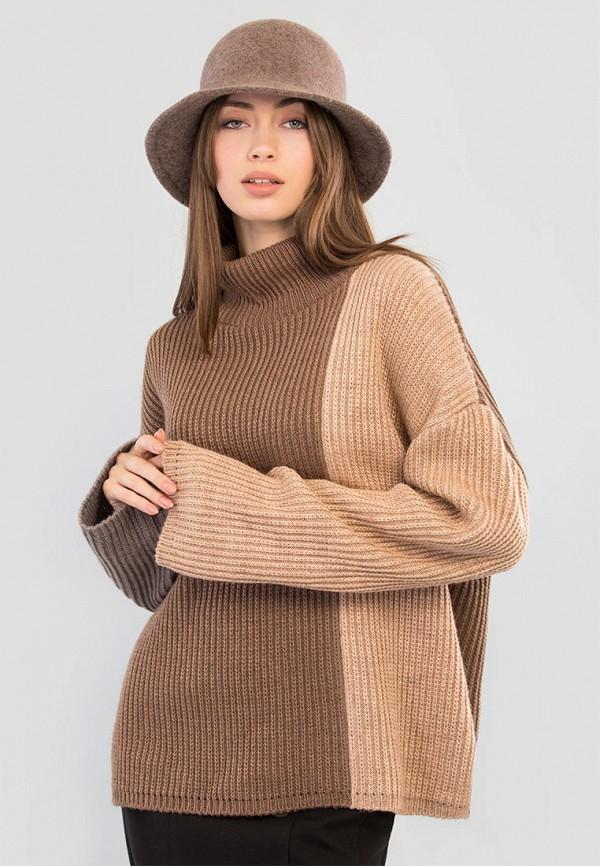 женский свитер maxa, коричневый