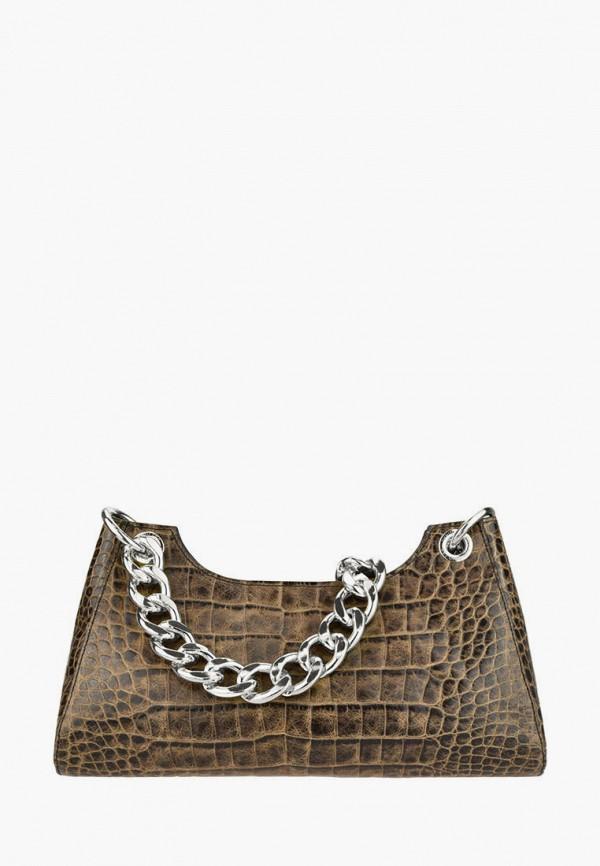 женская сумка через плечо bb1, коричневая