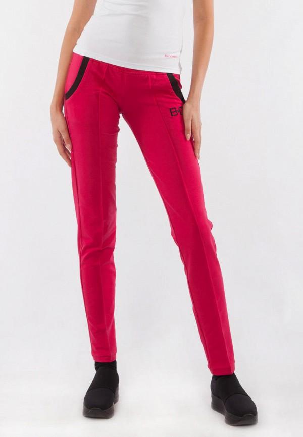 женские спортивные брюки bodro design, розовые
