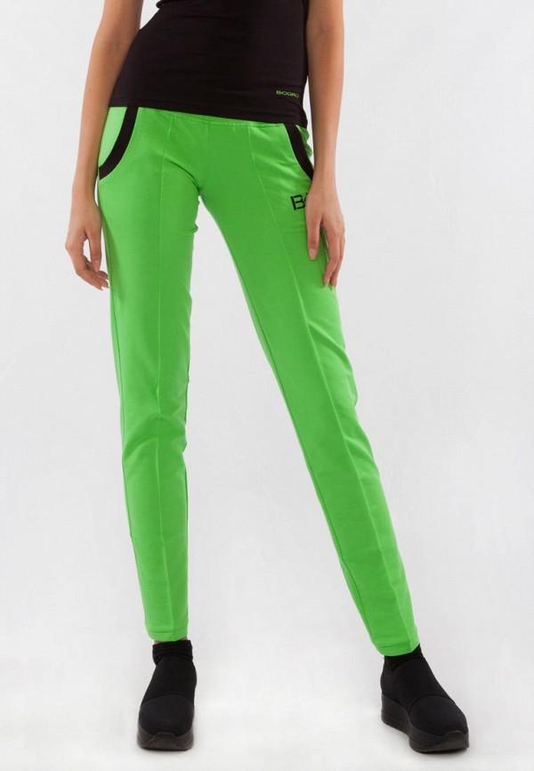 женские спортивные брюки bodro design, зеленые