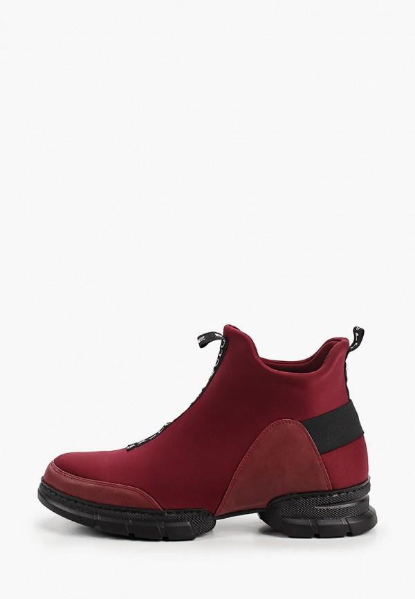 женские низкие ботинки ascalini, бордовые