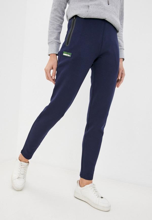 женские спортивные брюки lacoste, синие
