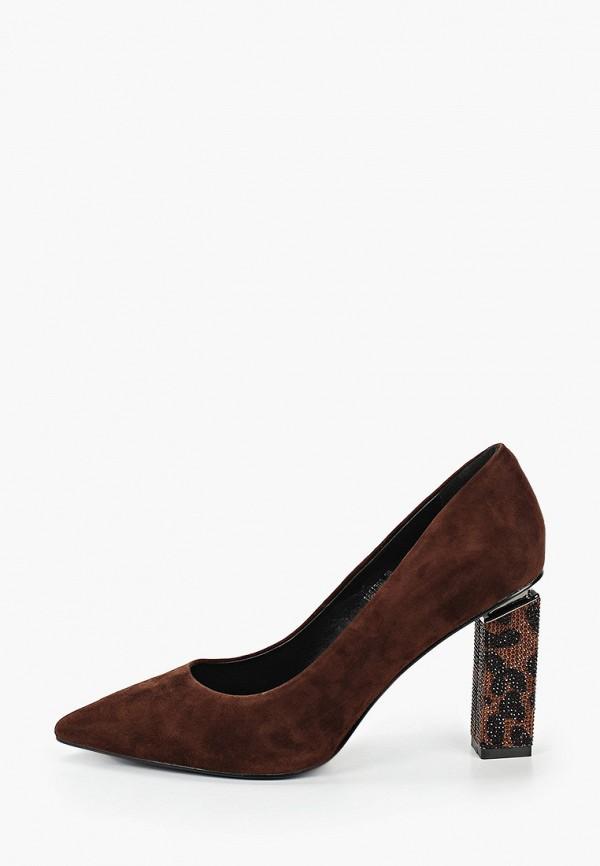 женские туфли с закрытым носом vitacci, коричневые