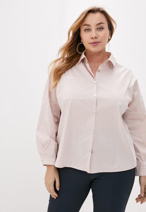 женская рубашка с длинным рукавом olsi, бежевая