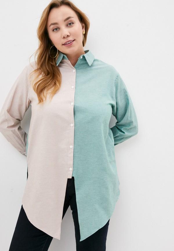 женская рубашка с длинным рукавом olsi, разноцветная