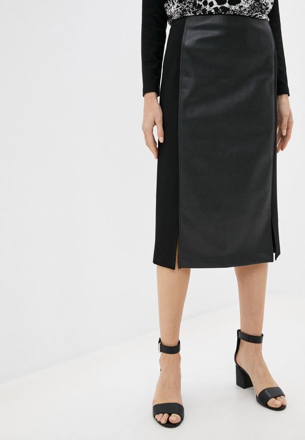 женская кожаные юбка helmidge, черная