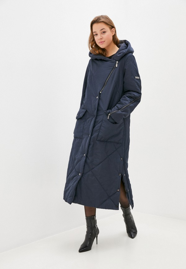 женская утепленные куртка helmidge, синяя