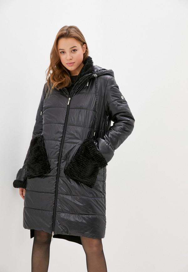 женская утепленные куртка helmidge, черная