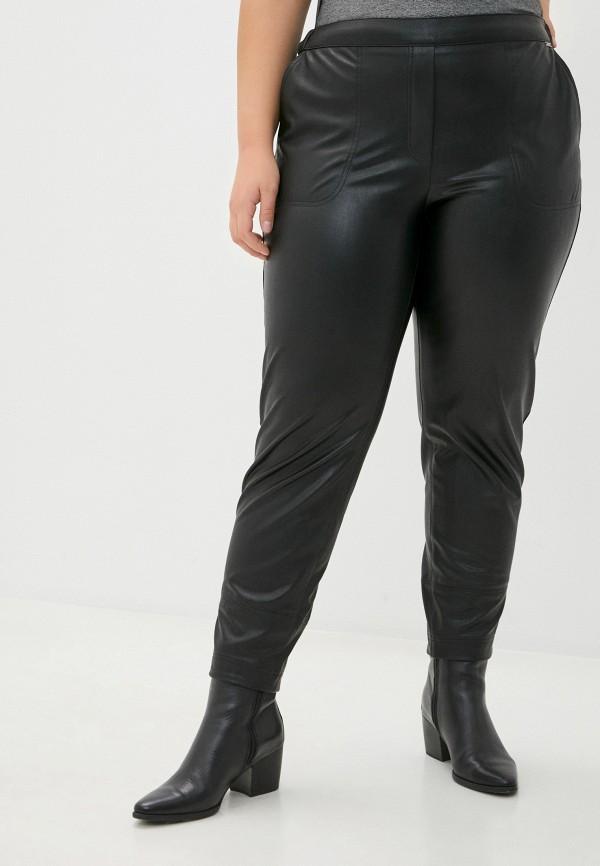 женские кожаные брюки helmidge, черные