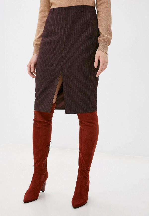 женская узкие юбка vittoria vicci, бордовая
