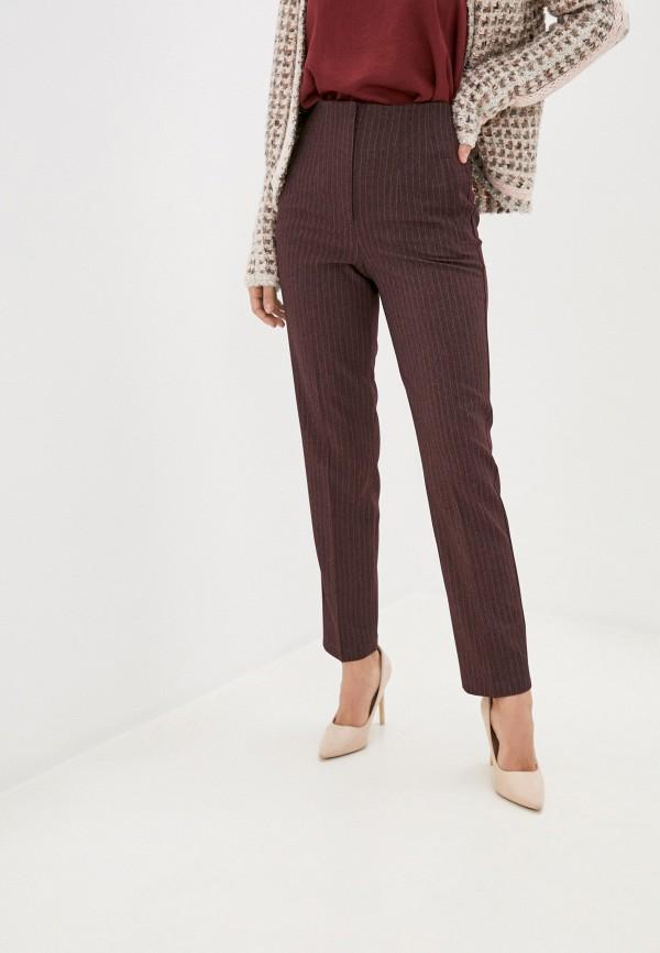 женские повседневные брюки vittoria vicci, бордовые