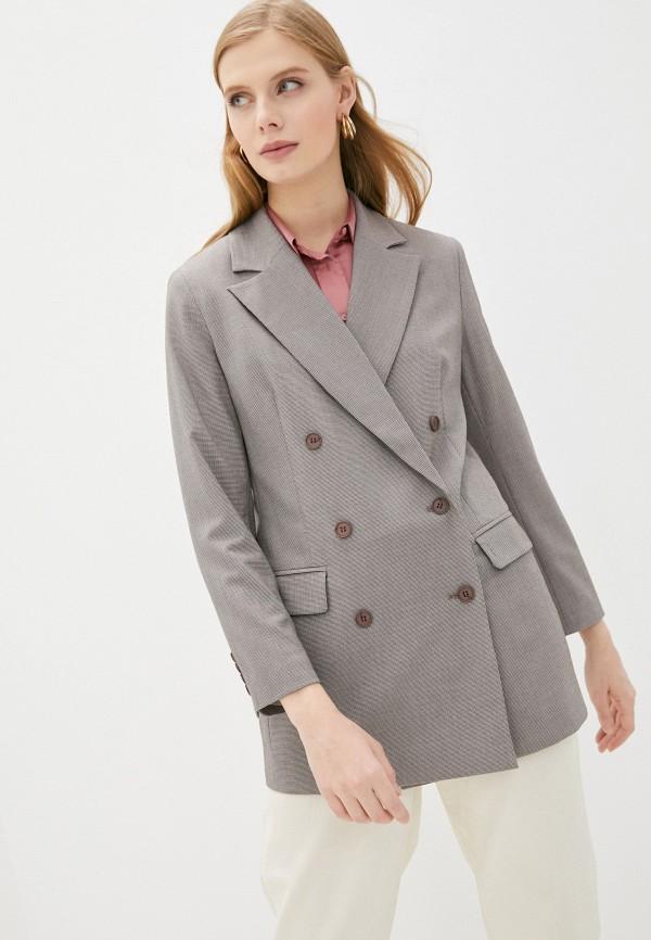 женский пиджак vittoria vicci, коричневый