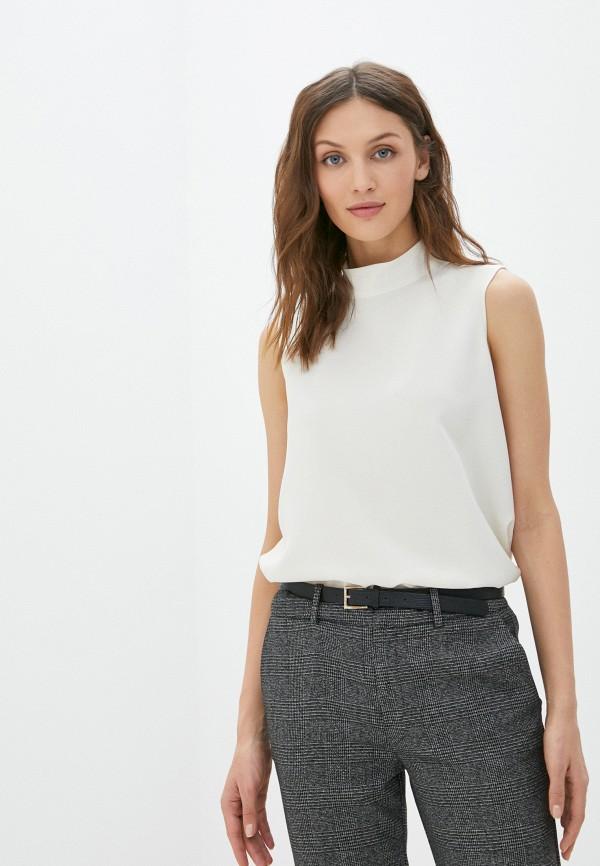 женская блузка без рукавов mezzatorre, белая