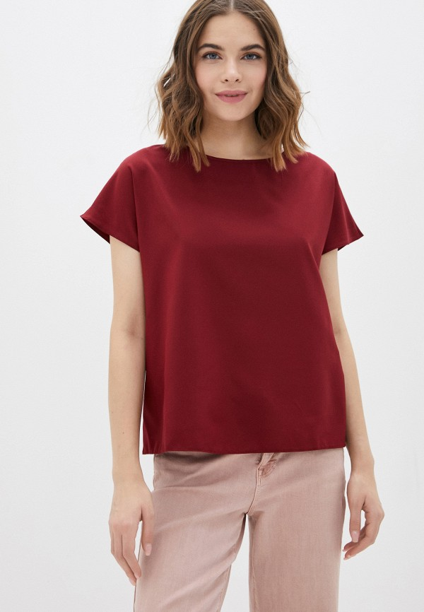 женская блузка с коротким рукавом a-a awesome apparel by ksenia avakyan, бордовая