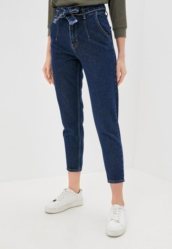 женские джинсы бойфренд chic & charisma, синие