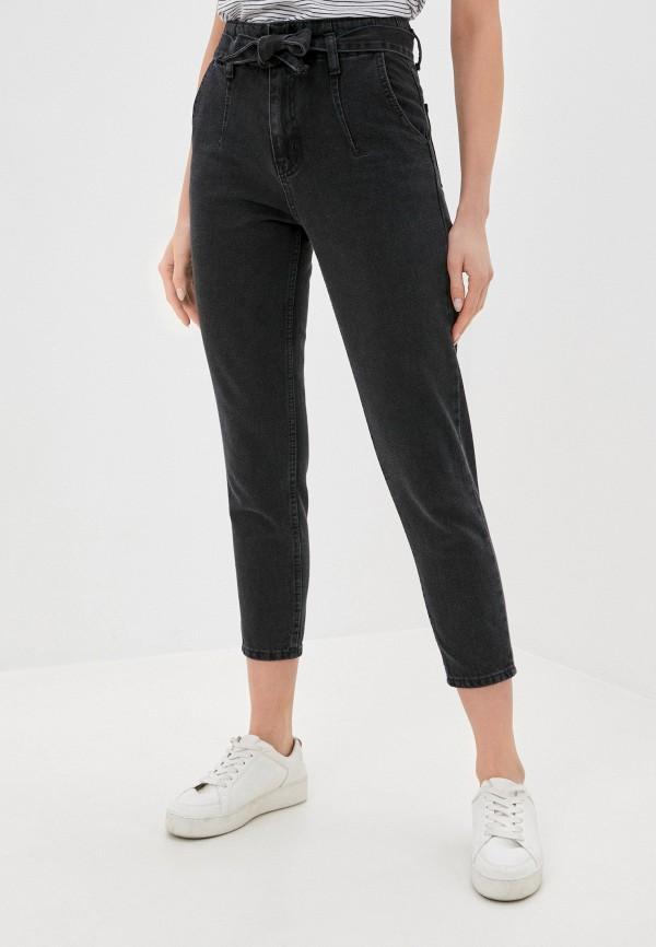 женские джинсы бойфренд chic & charisma, черные