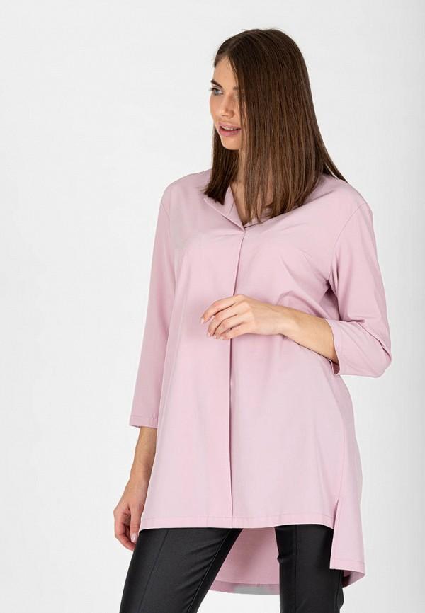 женская блузка с длинным рукавом eliseeva olesya, розовая