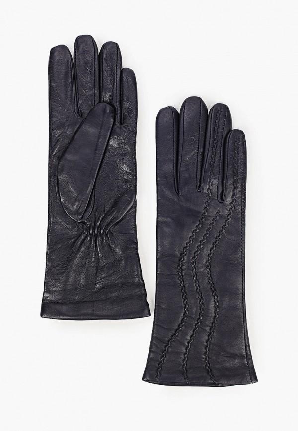 женские кожаные перчатки labbra, синие