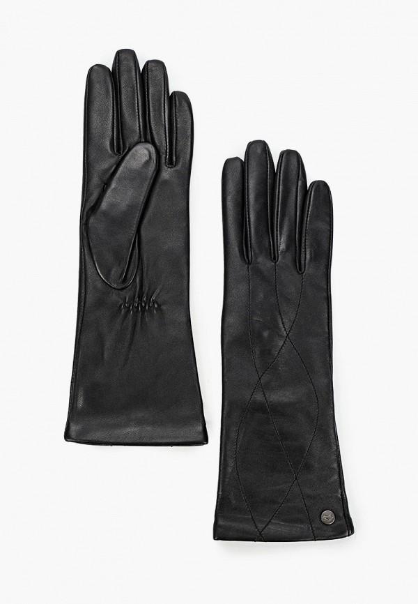 женские кожаные перчатки labbra, черные
