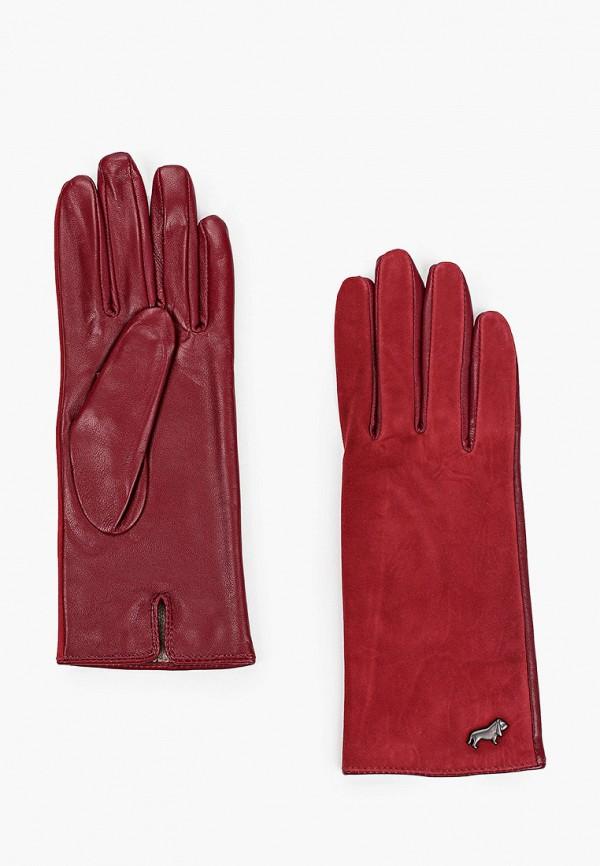 женские кожаные перчатки labbra, бордовые