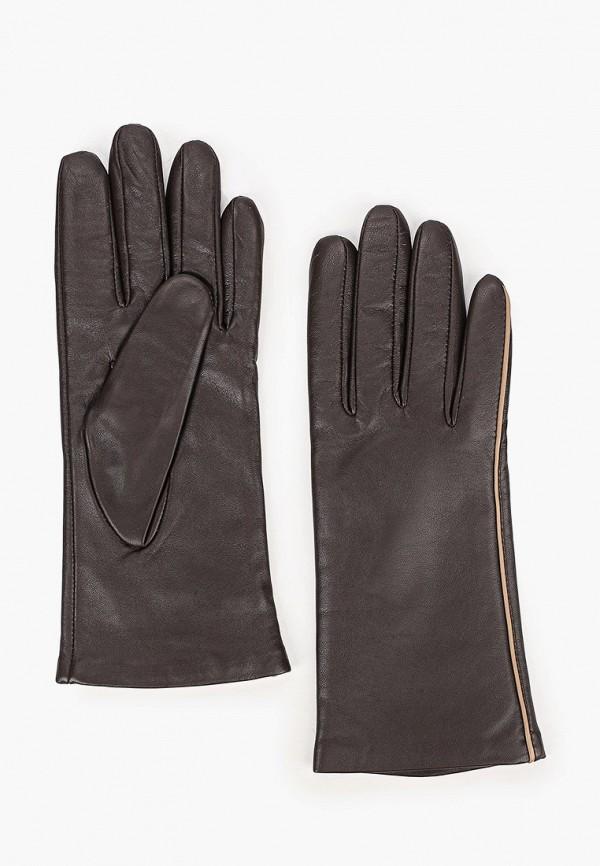 женские кожаные перчатки eleganzza, коричневые